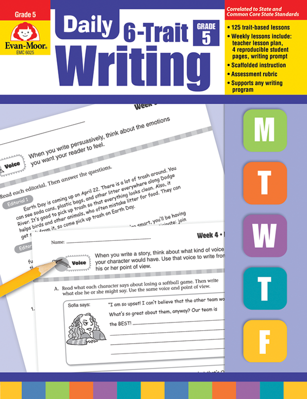 Picture of Daily 6-Trait Writing, Grade 5 - Teacher's Edition, E-book