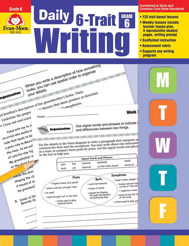 Picture of Daily 6-Trait Writing, Grade 6 - Teacher's Edition, E-book