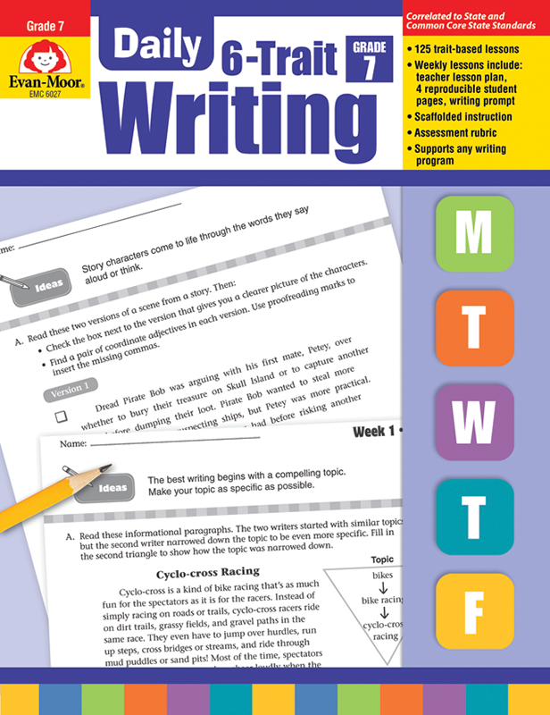 Picture of Daily 6-Trait Writing, Grade 7 - Teacher's Edition, E-book