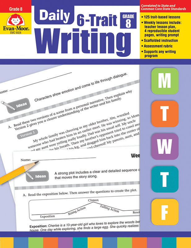 Picture of Daily 6-Trait Writing, Grade 8 - Teacher's Edition, E-book
