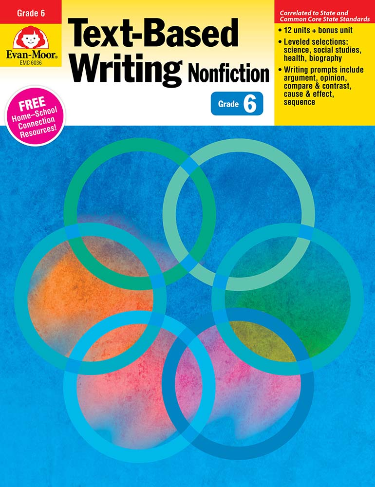 Picture of Text-Based Writing, Grade 6 - Teacher's Edition, Print