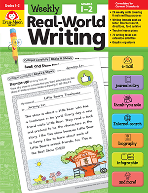 Picture of Weekly Real-World Writing, Grades 1-2 - Teacher's Edition, e-book