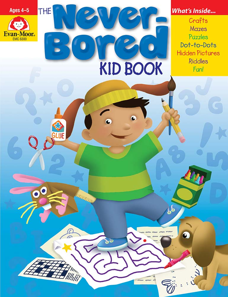 Picture of The Never-Bored Kid Book, Grades PreK-K - Activity Book