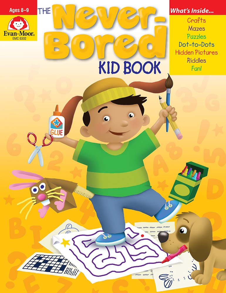 Picture of The Never-Bored Kid Book, Grades 3-4 - Activity Book