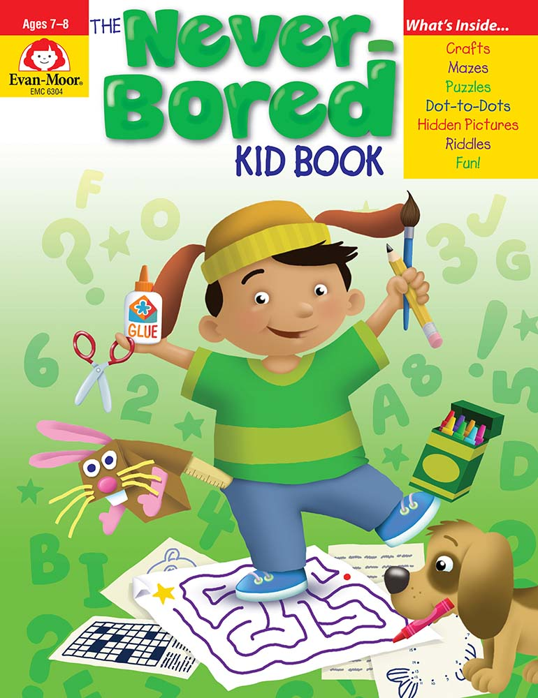 Picture of The Never-Bored Kid Book, Grades 2-3 - Activity Book