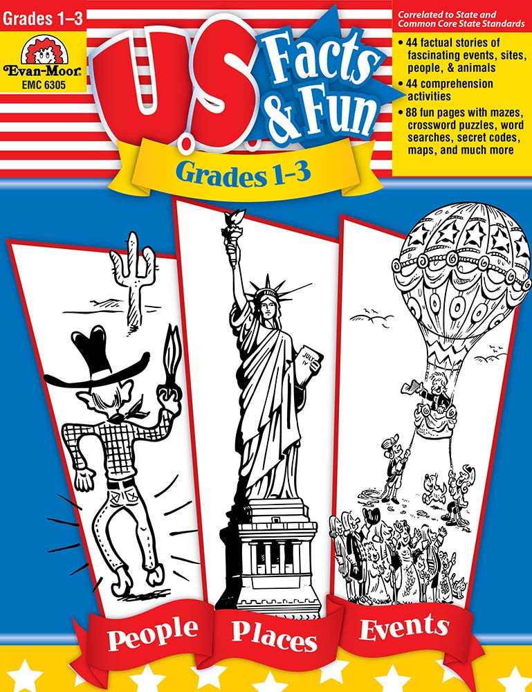 Picture of U.S. Facts & Fun, Grades 1-3 - Teacher Resource, Print