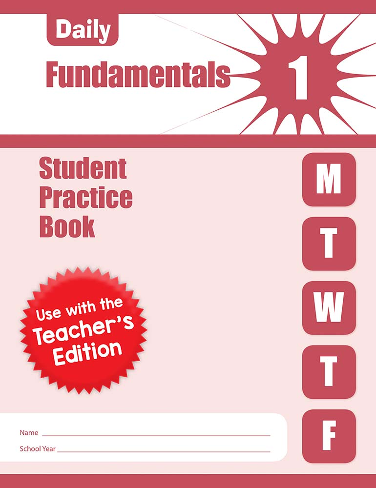 Picture of Daily Fundamentals, Grade 1 - Student Workbook (5-pack)