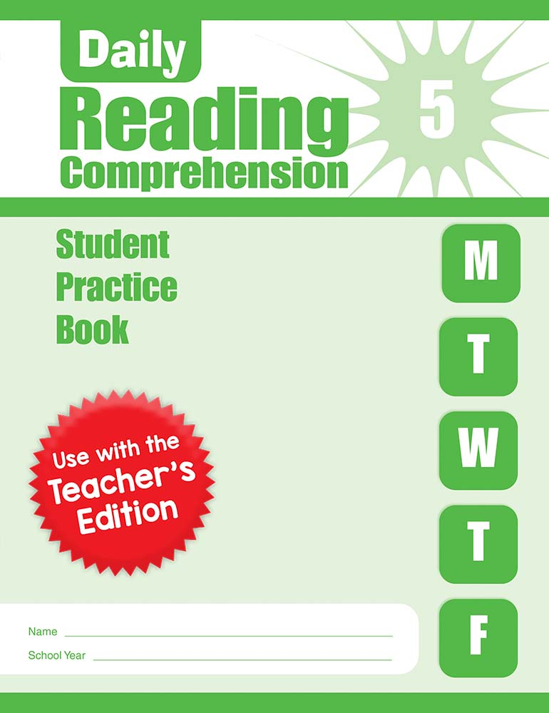 Picture of Daily Reading Comprehension, Grade 5 - Student Workbook (5-pack)