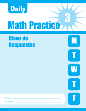 Picture of Daily Math Practice, Grade 3-Spanish Student Workbook (5-Pack)