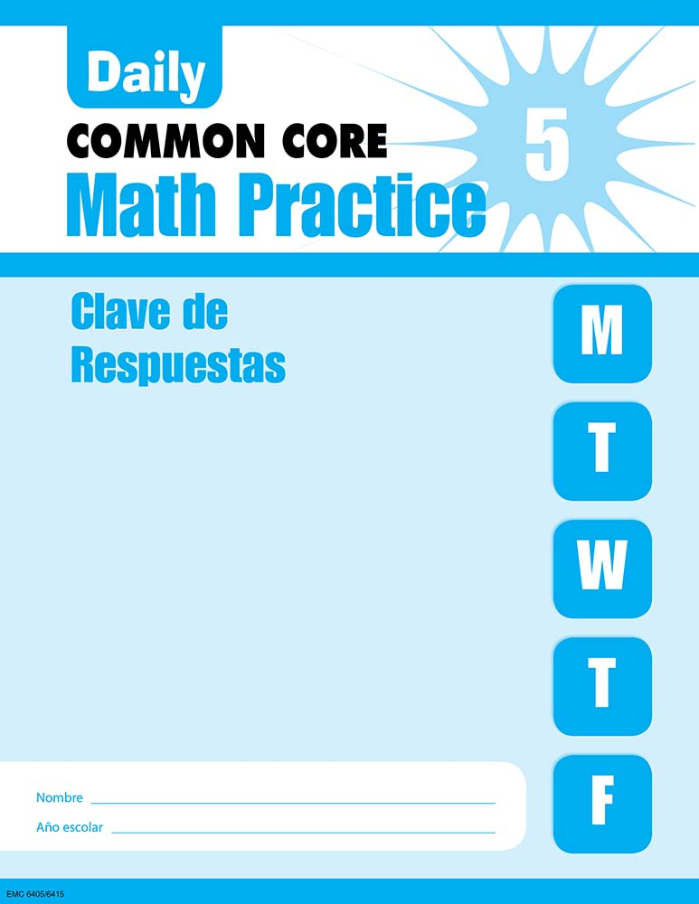 Picture of Daily Math Practice, Grade 5-Spanish Student Workbook (5-Pack)