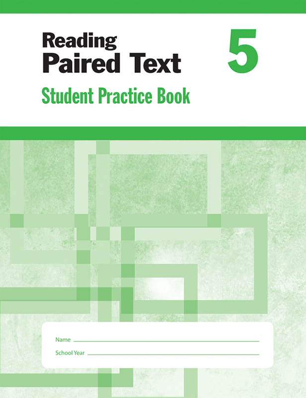 Picture of Reading Paired Text, Grade 5 - Student Workbook (5-pack)