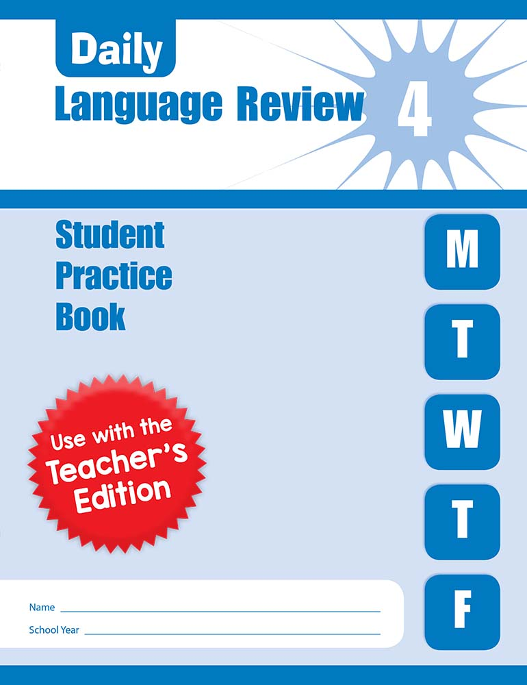Picture of Daily Language Review, Grade 4 - Student Workbook (5-pack)