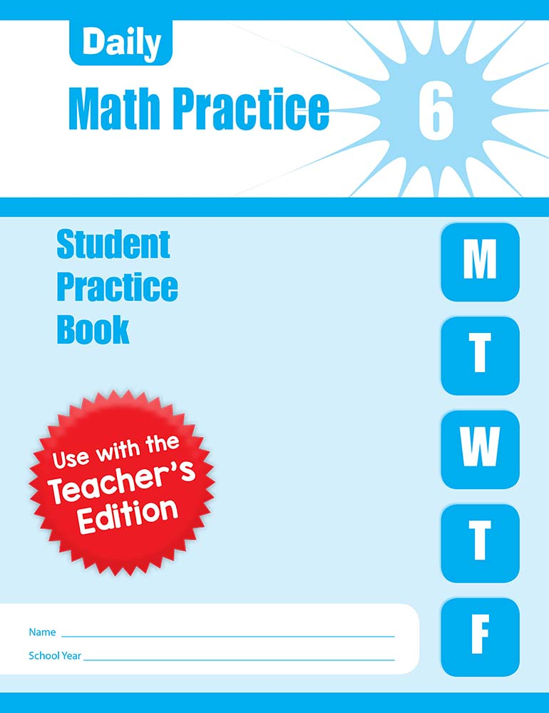 Picture of Daily Math Practice, Grade 6 - Student Workbook (5-pack)