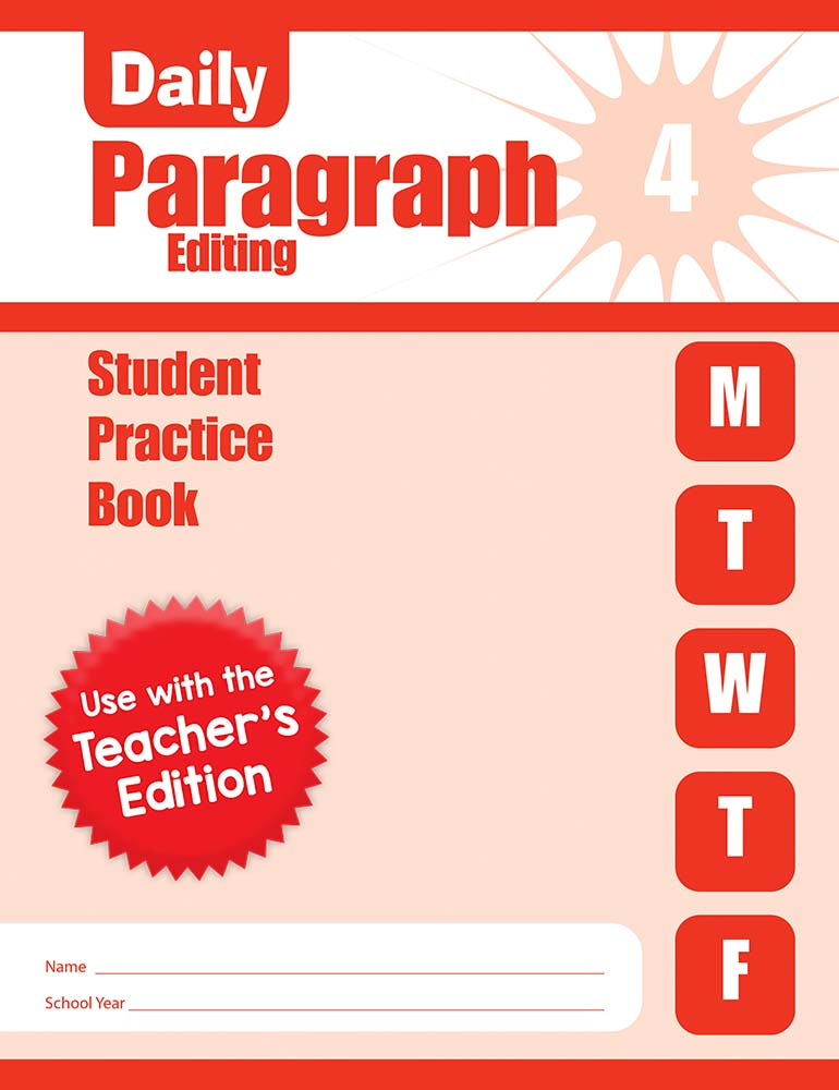 Picture of Daily Paragraph Editing, Grade 4 - Student Workbook (5-pack)
