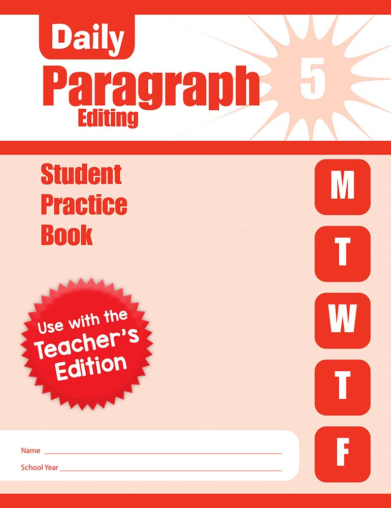 Picture of Daily Paragraph Editing, Grade 5 - Student Workbook (5-pack)