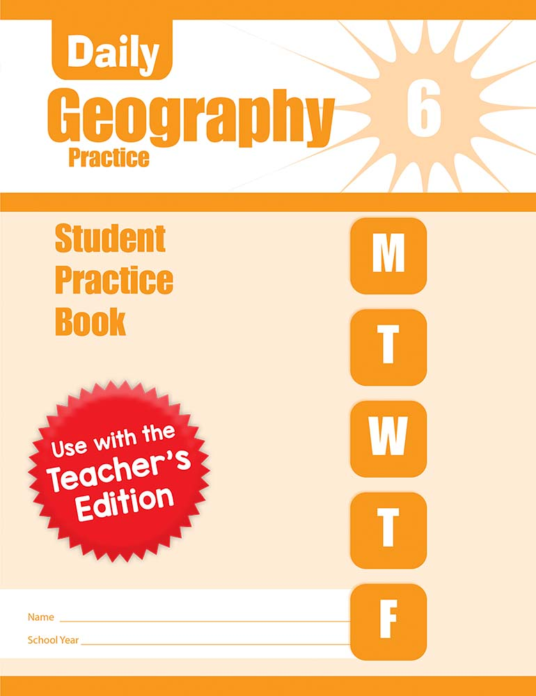 Picture of Daily Geography Practice, Grade 6 - Student Workbook (5-pack)