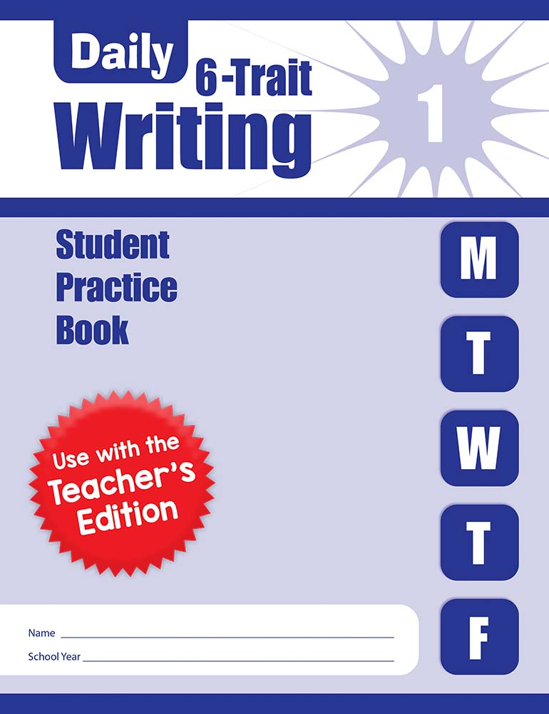 Picture of Daily 6-Trait Writing, Grade 1 - Student Workbook (5-pack)