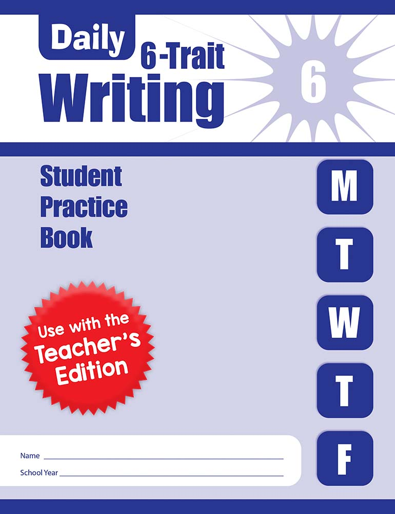 Picture of Daily 6-Trait Writing, Grade 6 - Student Workbook (5-pack)