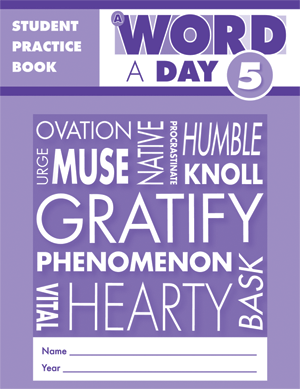 Picture of A Word a Day, Grade 5 - Student Workbook (5-pack)