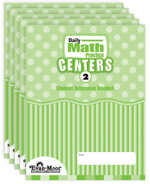 Picture of Daily Math Practice Centers, Grade 2 - Student Response Booklet (5-Pack)