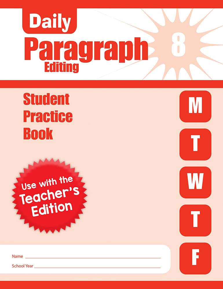 Picture of Daily Paragraph Editing, Grade 8 - Student Workbook (5-pack)