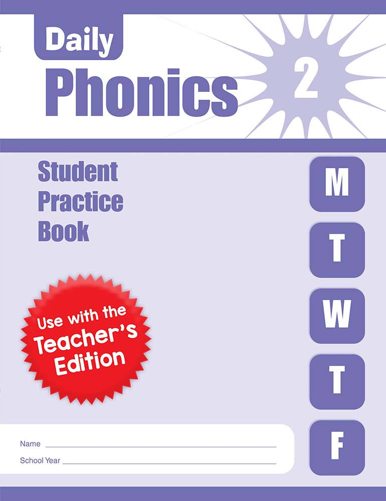 Picture of Daily Phonics, Grade 2 - Student Workbook (5-pack)