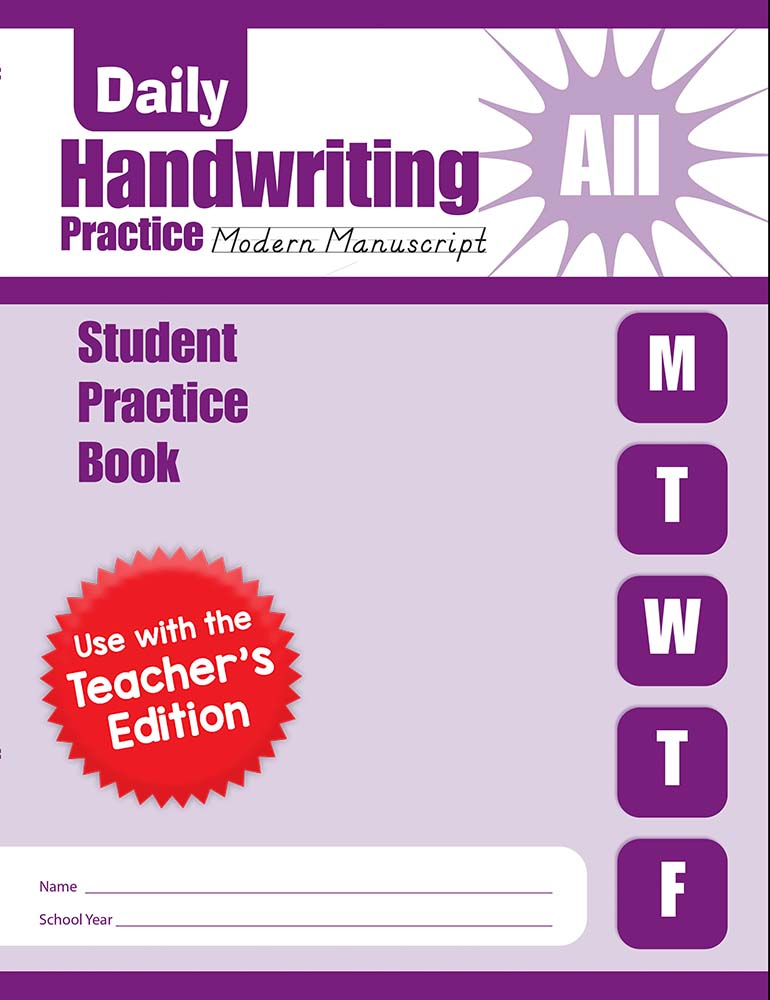 Picture of Daily Handwriting Practice: Modern Manuscript, Grades K-6 - Student Workbook (5-pack)