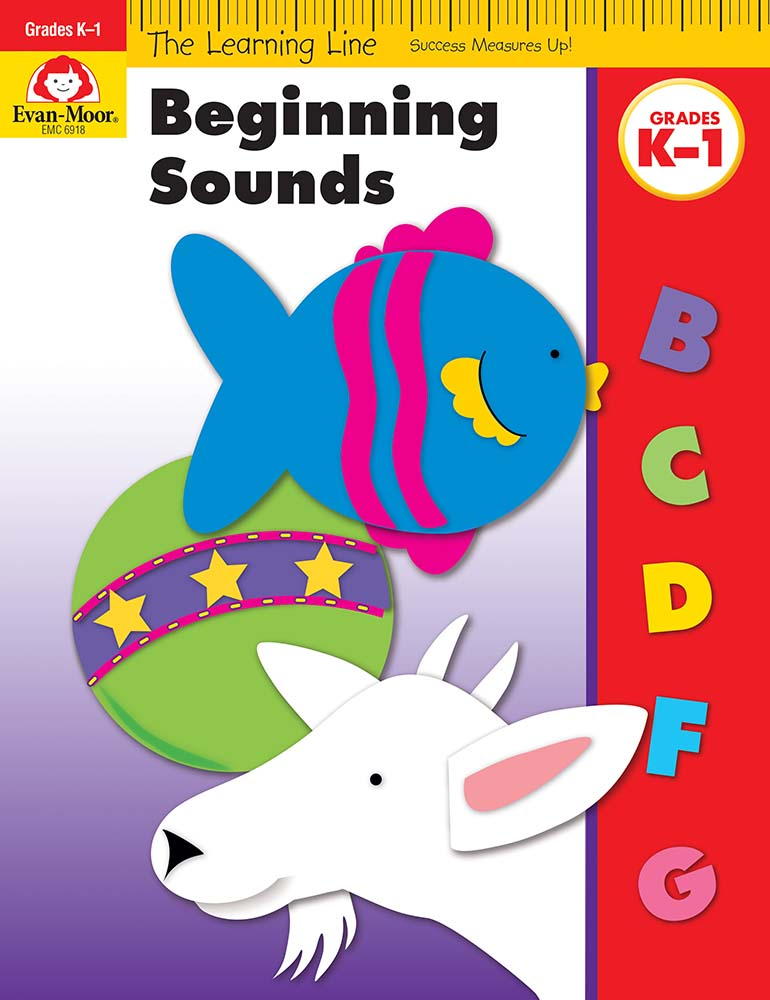 Picture of Learning Line: Beginning Sounds, Grades K-1 - Activity Book
