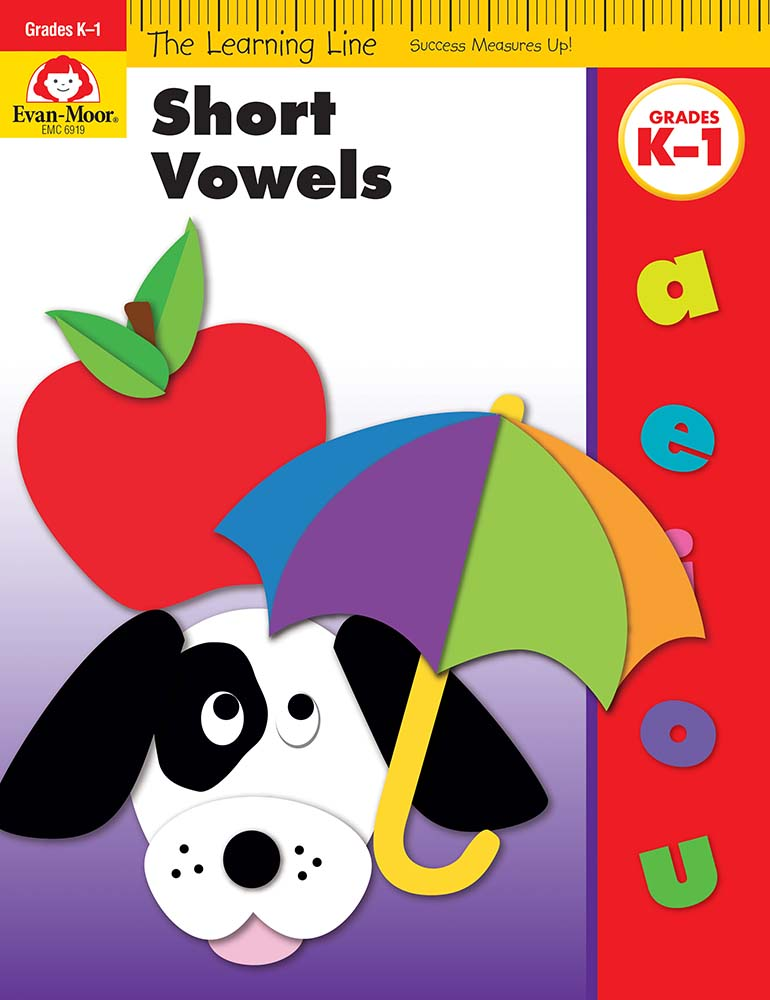 Picture of Learning Line: Short Vowels, Grades K-1 - Activity Book