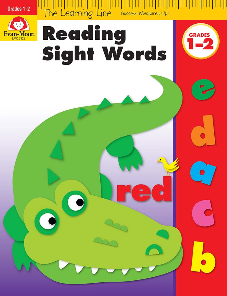 Picture of Learning Line: Reading Sight Words, Grades K-1 - Activity Book