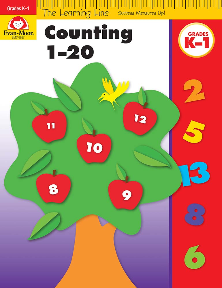 Picture of Learning Line: Counting 1-20, Grades K-1 - Activity Book