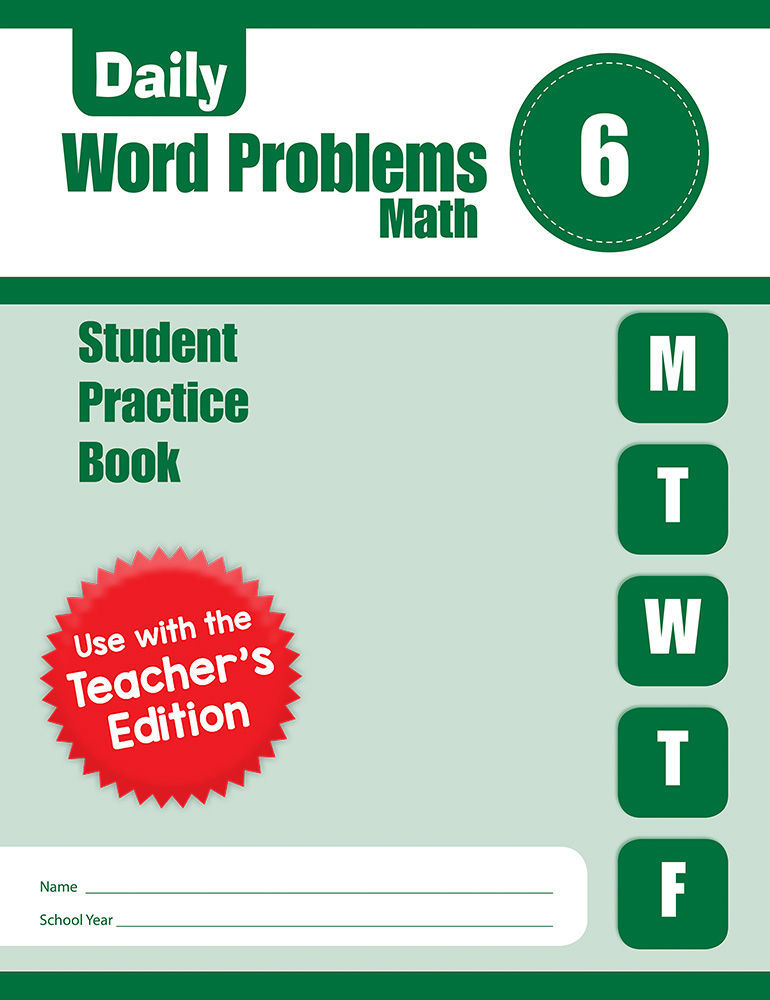 Picture of Daily Word Problems, Grade 6 - Student Workbook