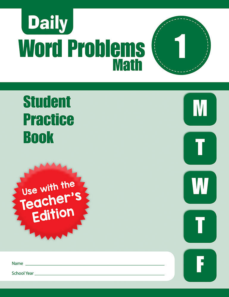 Picture of Daily Word Problems, Grade 1 - Student Workbook (5-pack)