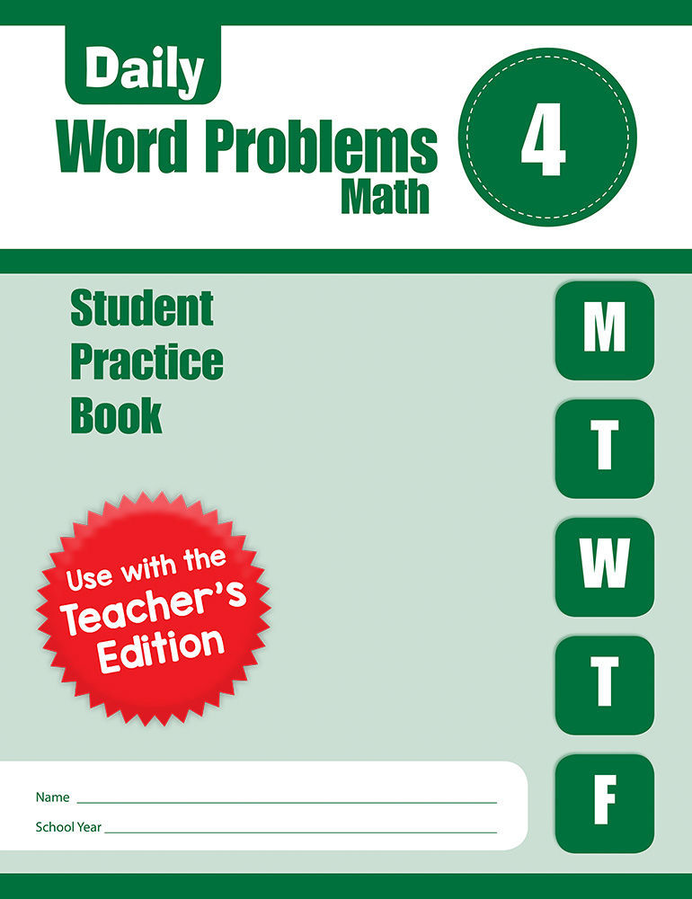 Picture of Daily Word Problems, Grade 4 - Student Workbook (5-pack)
