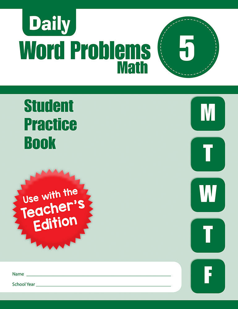 Picture of Daily Word Problems, Grade 5 - Student Workbook (5-pack)