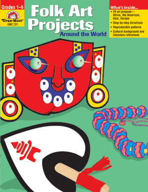 Picture of Folk Art Projects: Around the World, Grades 1-6 - Teacher Reproducibles, E-book