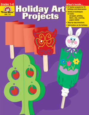 Picture of Holiday Art Projects, Grades 1-6 - Teacher Reproducibles, E-book