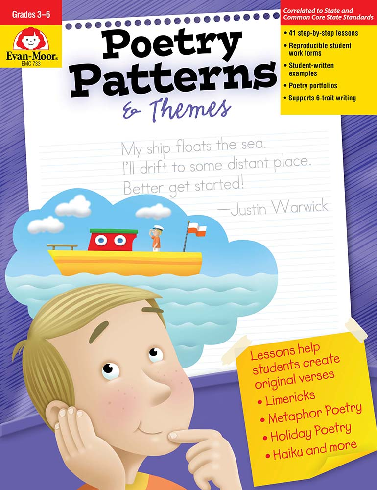Picture of Poetry Patterns & Themes, Grades 3-6 - Teacher Reproducibles, Print