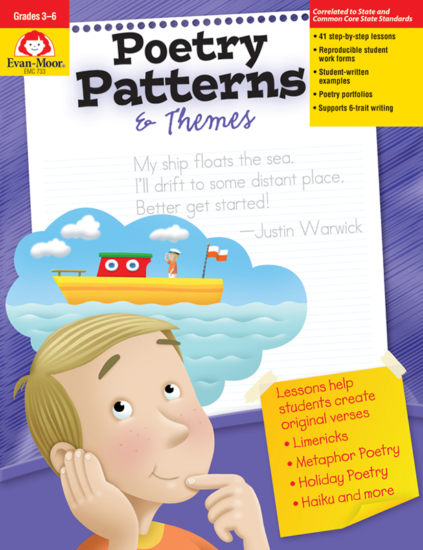 Picture of Poetry Patterns & Themes, Grades 3-6 - Teacher Reproducibles, E-book