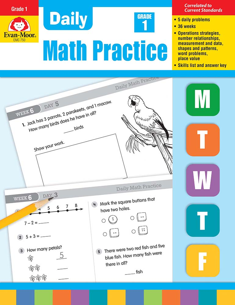Picture of Daily Math Practice, Grade 1- Teacher's Edition, E-book