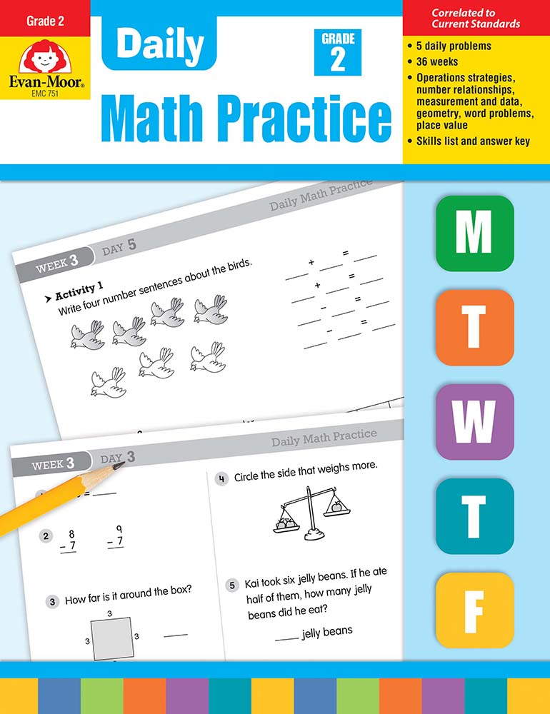 Picture of Daily Math Practice, Grade 2 - Teacher's Edition, Print