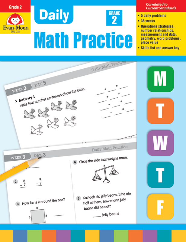 Picture of Daily Math Practice, Grade 2 - Teacher's Edition, E-book