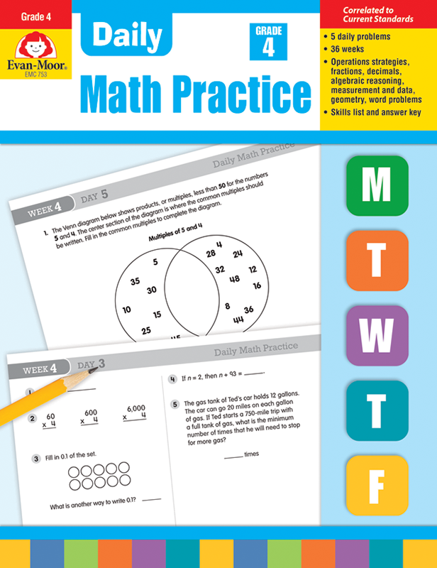 Picture of Daily Math Practice, Grade 4 - Teacher's Edition, E-book