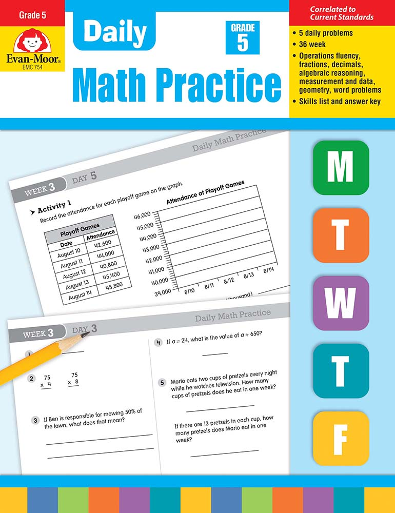 Picture of Daily Math Practice, Grade 5 - Teacher's Edition, Print