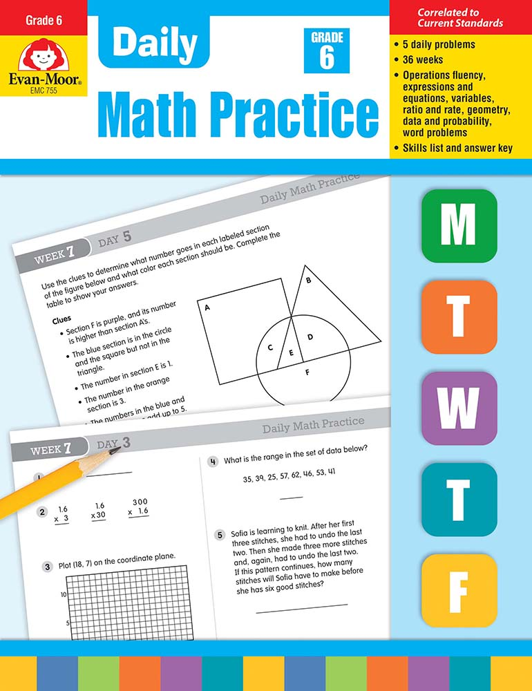 Picture of Daily Math Practice, Grade 6 - Teacher's Edition, Print