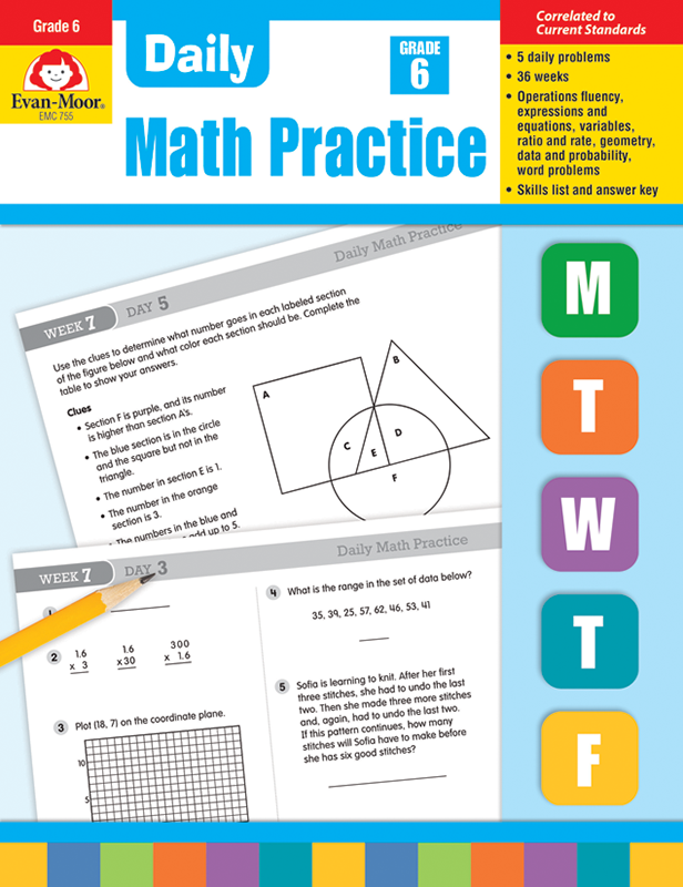 Picture of Daily Math Practice, Grade 6- Teacher's Edition, E-book