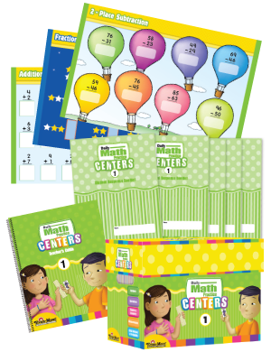 Picture of Daily Math Practice Centers, Grade 1 with 20 add-on Student Booklets