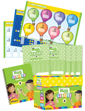 Picture of Daiy Math Practice Centers, Grade 3 with 20 add-on Student Booklets