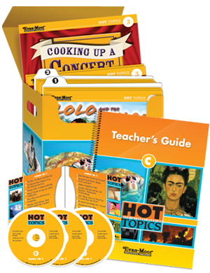 Picture of Hot Topics Set C with Add-on Materials for Six Students, Grades 4-8+