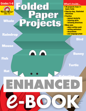 Picture of Folded Paper Projects, Grades 1-6 - Teacher Reproducibles, E-book